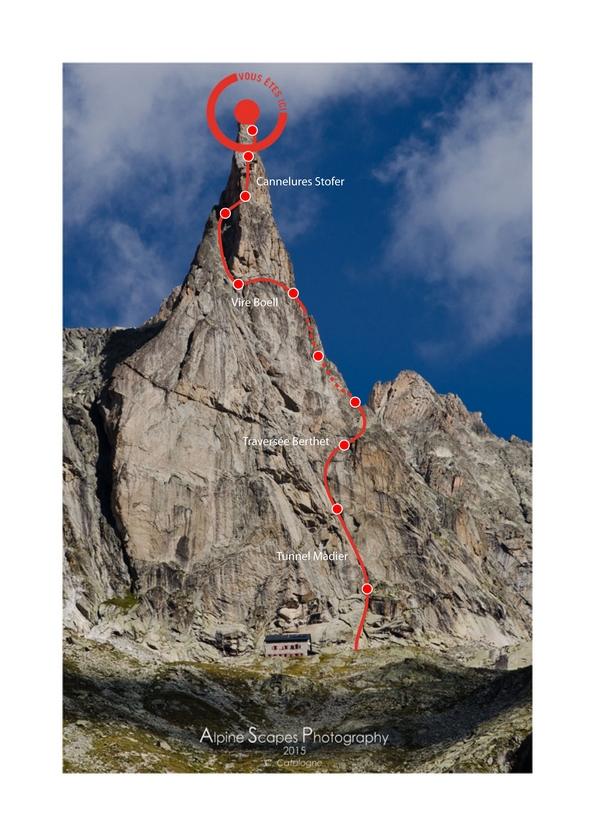 Aiguille Dibona - Face sud Classique - Voie Berthet-Boell-Stofer