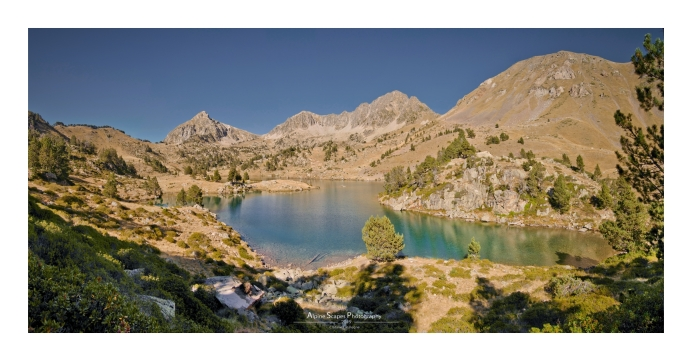 Les lacs de Bastan, comme un air de lac Achard, mais en mieux ! (Focale : 18mm (assemblage de 8 photos), ISO : 200, Pose : 1/500s, Ouverture : f/7.1)